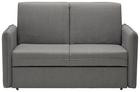 Schlafsofa in Grau mit Bettfunktion - Chromfarben/Grau, MODERN, Textil/Metall (156/94/99cm) - Modern Living