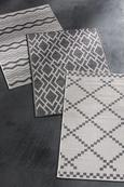 Ravno Tkana Preproga Edgar 2 - srebrna/krem, Moderno, tekstil (100/150cm) - Modern Living