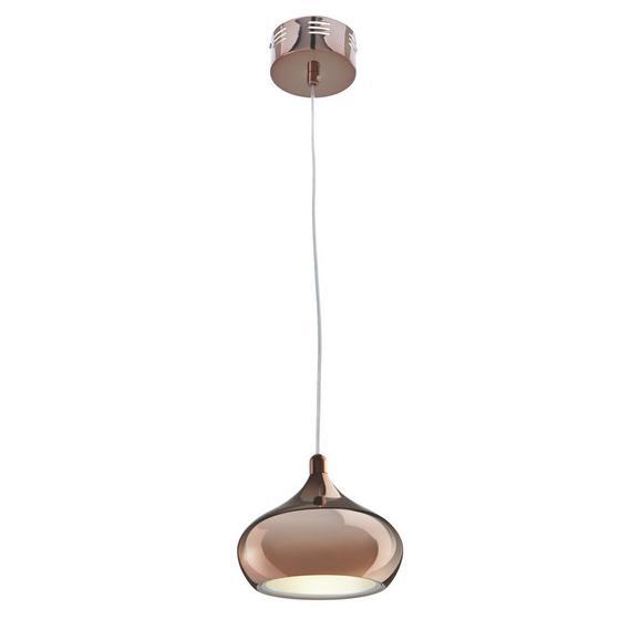LED-Hängeleuchte max. 10 Watt 'Alex' - Goldfarben/Kupferfarben, MODERN, Kunststoff/Metall (20cm) - Bessagi Home