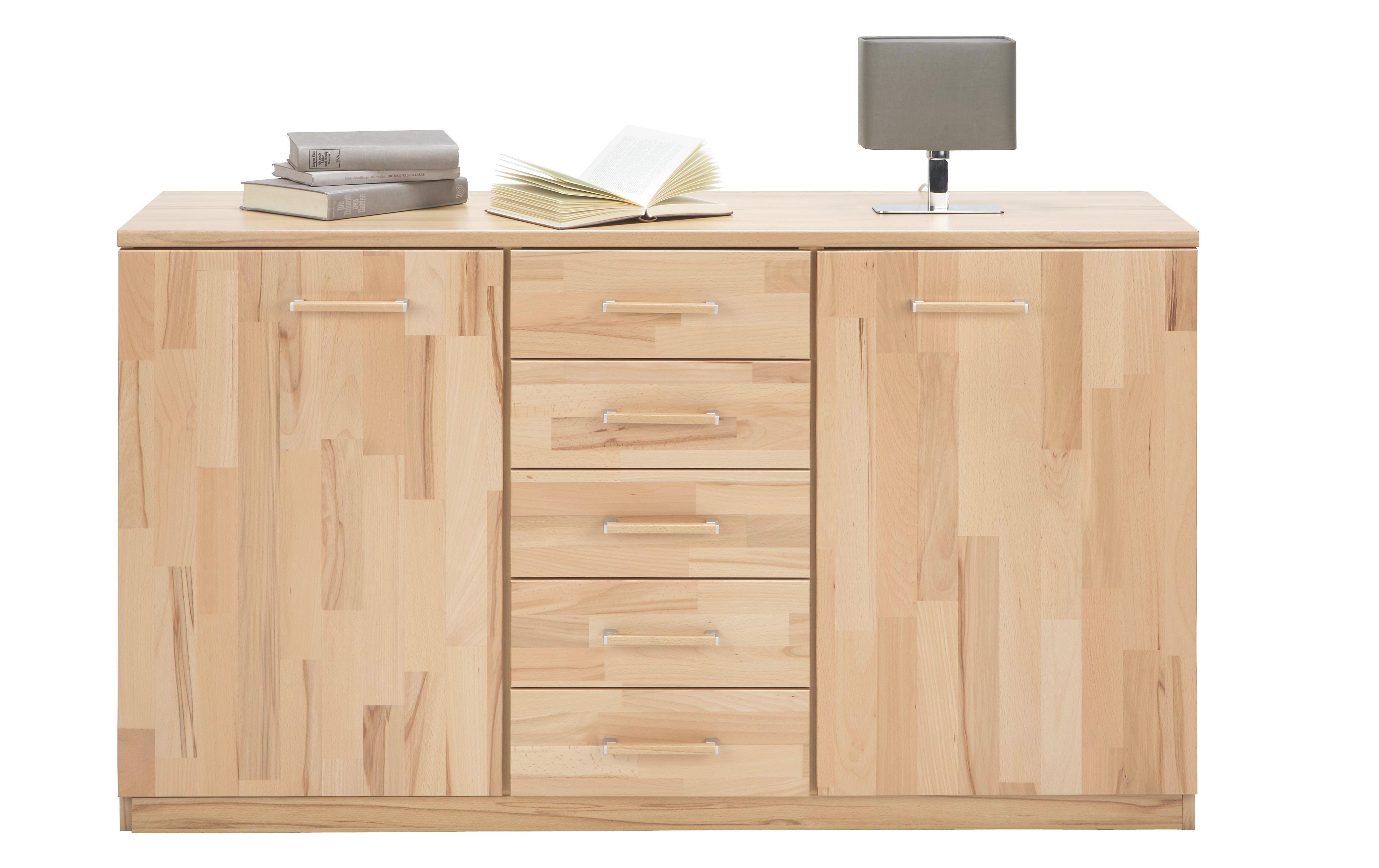 Kommode in Buche aus Echtholz - MODERN, Holz/Holzwerkstoff (135/78/40cm) - ZANDIARA