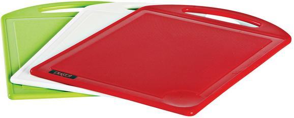 Schneidebrett Rene - Rot/Weiß, Kunststoff (25/35cm) - Mömax modern living