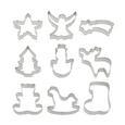 Ausstechform Mix Silber - Silberfarben, Metall (42/37/7cm) - Homeware