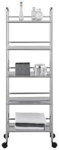 Regal Peter -sb- - črna/krom, kovina/umetna masa (40/120/32cm) - Mömax modern living
