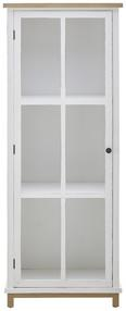 Vitrine Nicolo - Eichefarben/Weiß, MODERN, Glas/Holz (63/162/34cm) - Modern Living