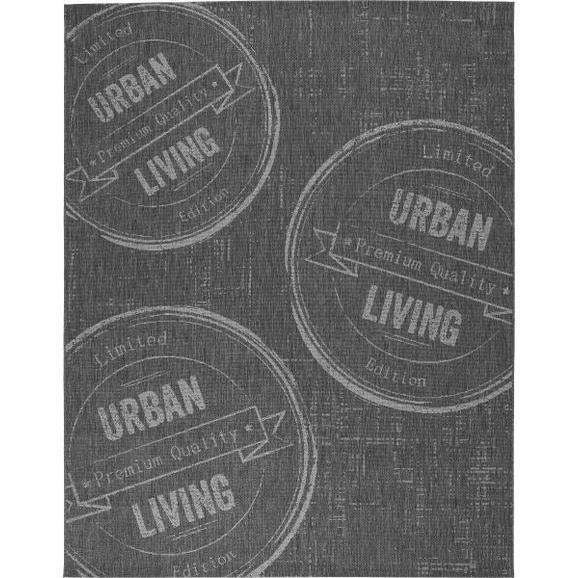 Flachwebeteppich Urban Living 80x200cm - Anthrazit, LIFESTYLE (80/200cm) - Boxxx