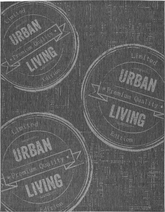 Flachwebeteppich Urban Living 80x200cm - Anthrazit, LIFESTYLE (80/200cm) - Mömax modern living