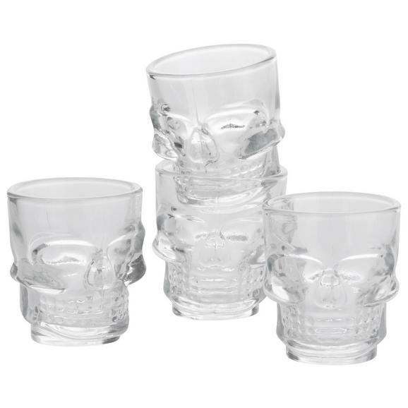Gläserset Skull ca. 40ml, 4-teilig - Klar, MODERN, Glas - Premium Living