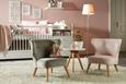 Kindersessel Grau - Grau, ROMANTIK / LANDHAUS, Holz/Textil (50/58/49,5cm) - Modern Living