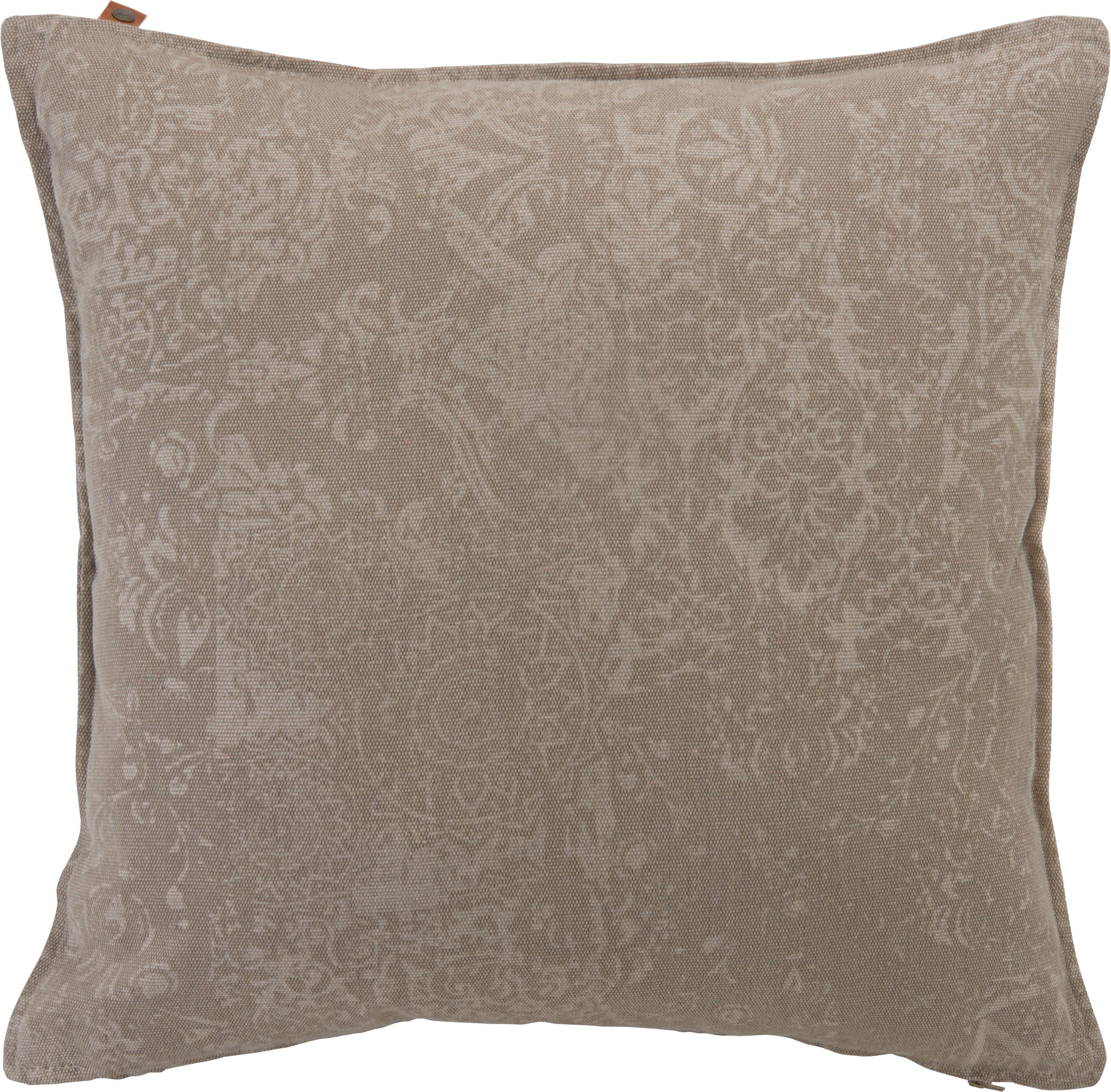 Zierkissen Karim 60x60cm - Sandfarben, MODERN, Textil (60/60cm)