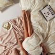 Posteljina Laine Oro - bijela/boje zlata, Modern, tekstil (140/200cm) - Mömax modern living