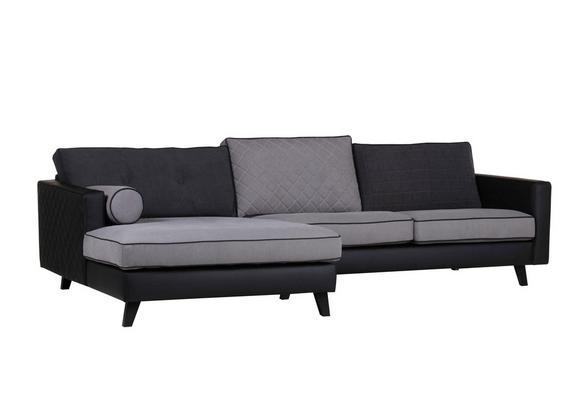 Sedežna Garnitura Showtime - siva, Trendi, tekstil (173/296cm) - premium living