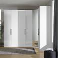 Kleiderschrankkorpus in Weiß - Weiß, MODERN, Holzwerkstoff (91,1/242,2/56,5cm) - Based