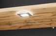 Vitrin Tizio - tölgy színű/szürke, modern, üveg/faanyagok (103,8/151/41cm)