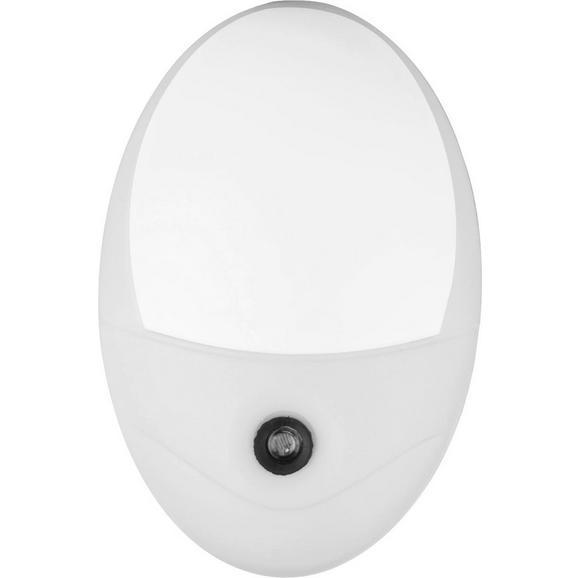 Nachtlicht Enio Weiß 210 Lumen - Weiß, KONVENTIONELL, Kunststoff (10,5/17,5cm) - Mömax modern living