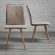 Stuhl Jay - Buchefarben/Braun, MODERN, Holz/Textil (48/91/44,5cm) - Modern Living