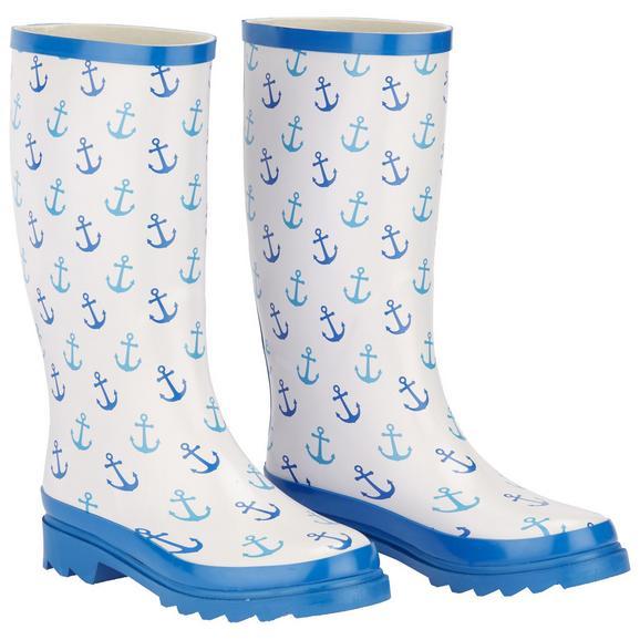 Gummistiefel Rainy in Blau - Blau/Weiß, Design, Kunststoff (20/40/8cm)