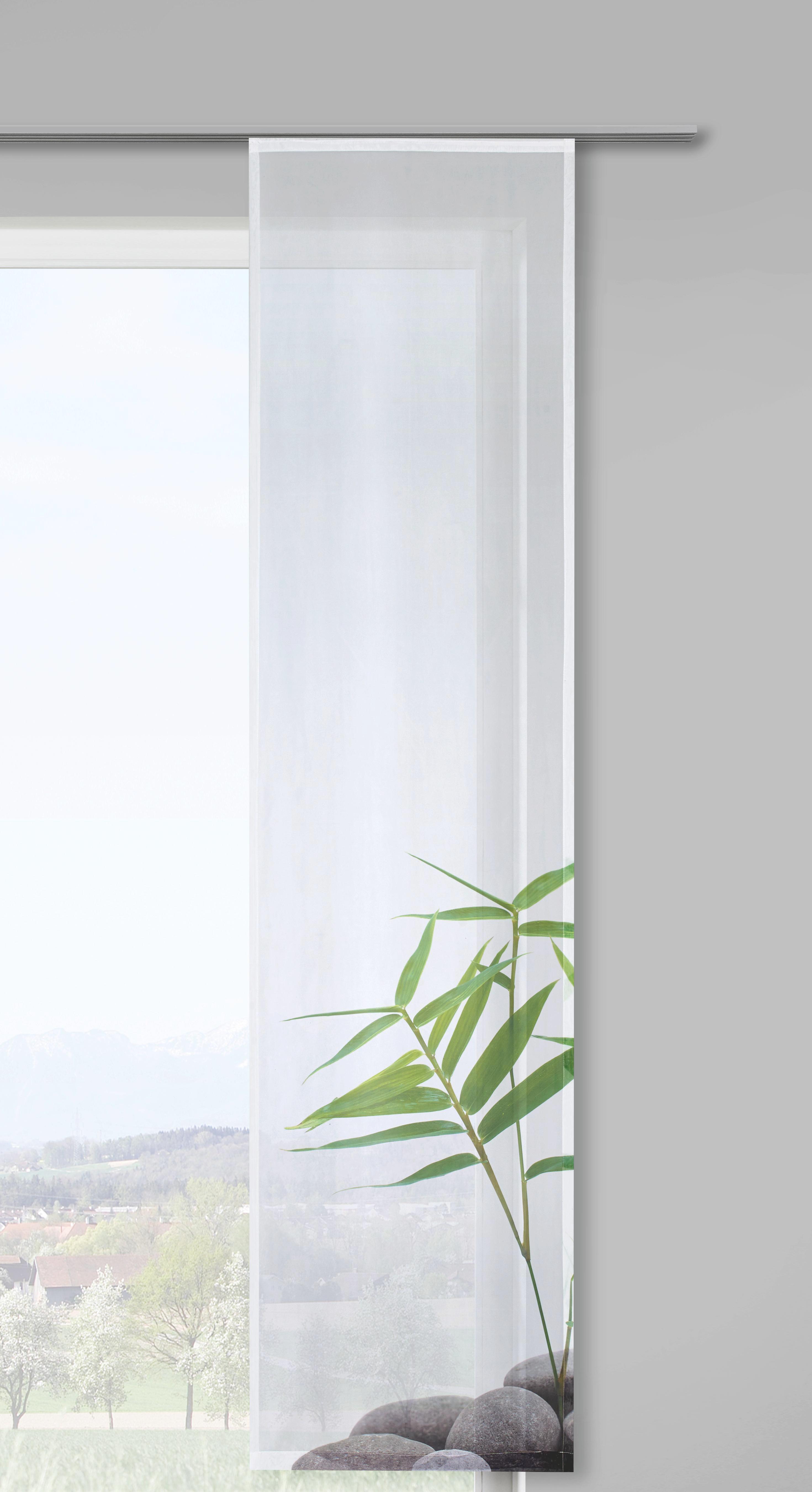 Flächenvorhang Spa, ca. 60x245cm - Weiß/Grau, LIFESTYLE, Textil (60/245cm) - MÖMAX modern living