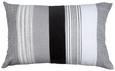 Zierkissen Björn Grau/Schwarz/Weiß - Schwarz/Weiß, LIFESTYLE, Textil (40/60cm) - Mömax modern living
