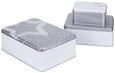 Keksdosenset Becca Weiß/silber 3-teilig - Silberfarben/Weiß, Metall - Mömax modern living