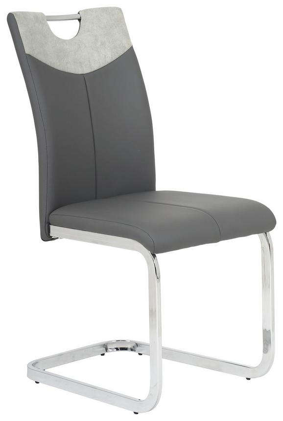 Schwingstuhl Grau - Chromfarben/Grau, MODERN, Textil/Metall (44,5/94/57cm) - Mömax modern living