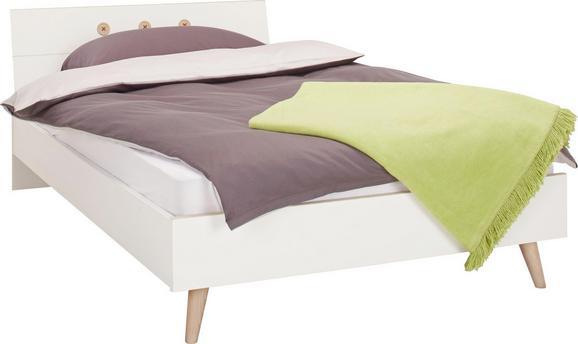 Bett Weiß/Eichefarben ca.90x200cm - Eichefarben/Weiß, MODERN, Holz/Holzwerkstoff (90/200cm) - Modern Living