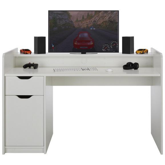 Schreibtisch in Weiß - Weiß, MODERN, Holzwerkstoff (150/96/75cm) - Mömax modern living