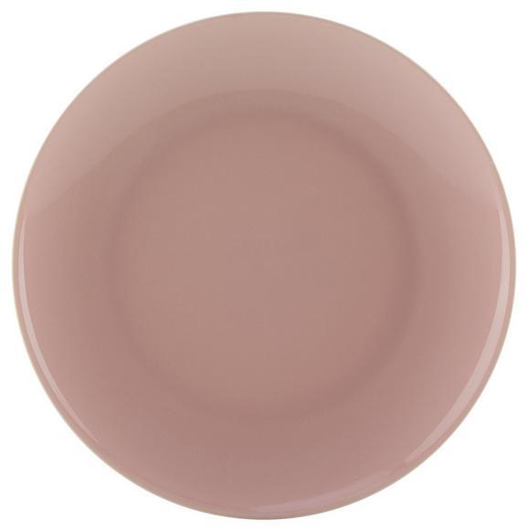Dessertteller Sandy aus Keramik Ø ca. 20,4cm - Rosa, KONVENTIONELL, Keramik (20,4/1,8cm) - Mömax modern living