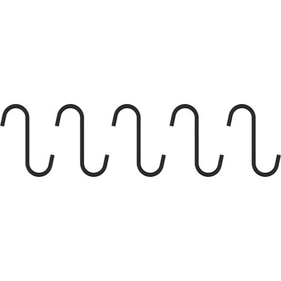 Cârlig Chester - negru, metal (7cm) - Premium Living