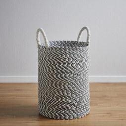 Korb Shannon - Silberfarben, MODERN, Kunststoff (32/41cm)