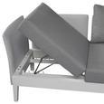 Loungegarnitur Memphis - Weiß/Grau, Design, Glas/Textil - Ambia Garden