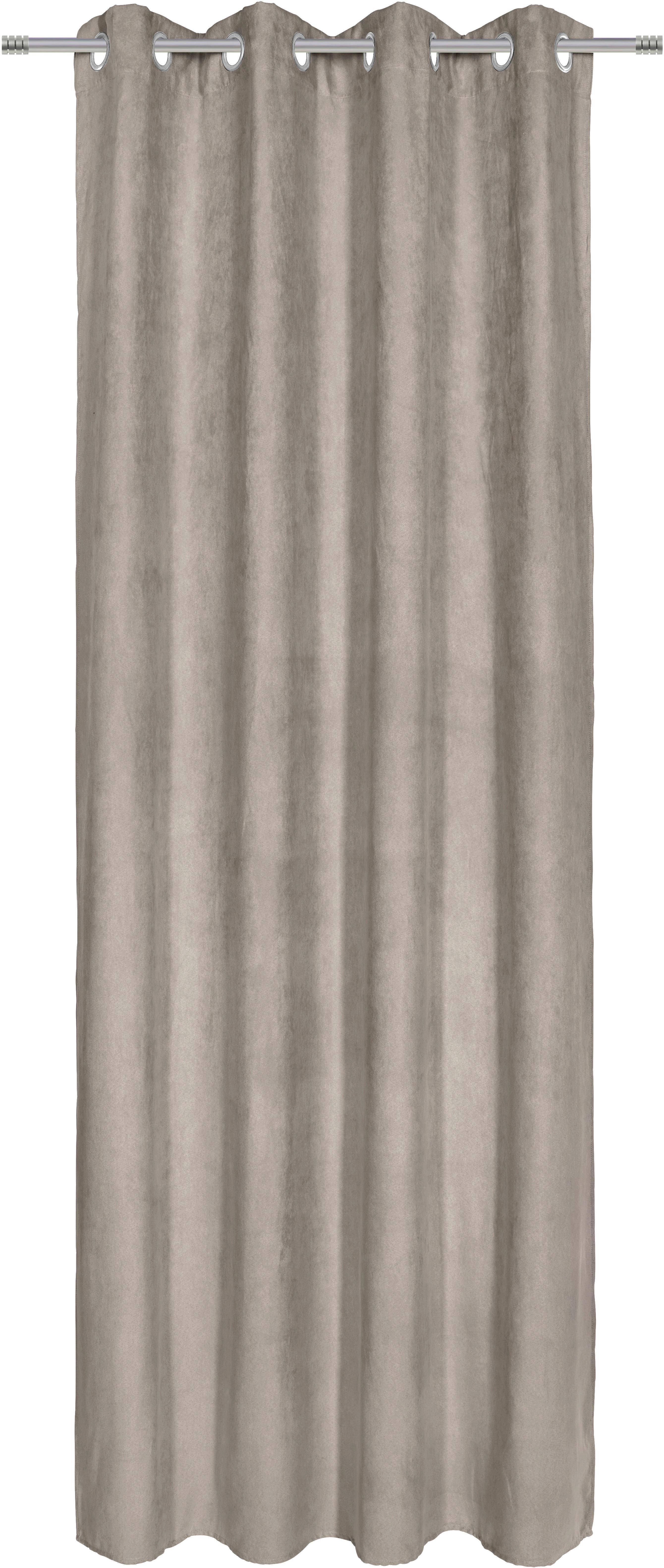 Készfüggöny Velour - szürke, konvencionális, textil (140/245cm) - MÖMAX modern living