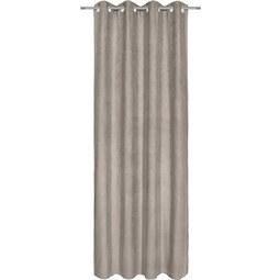 Ösenschal Velours Grau ca. 140x245cm - Grau, KONVENTIONELL, Textil (140/245cm) - Mömax modern living