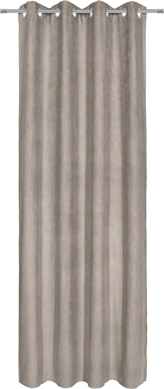Ösenvorhang Velours Grau ca. 140x245cm - Grau, KONVENTIONELL, Textil (140/245/cm) - Mömax modern living