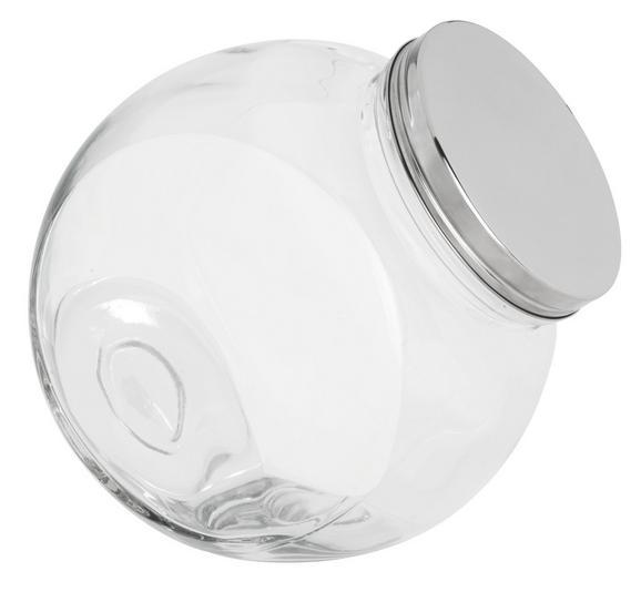 Steklena Posodica Za Začimbe Antonius - prozorna/nerjaveče jeklo, kovina/steklo (22,4/15,2/22,5cm) - Mömax modern living