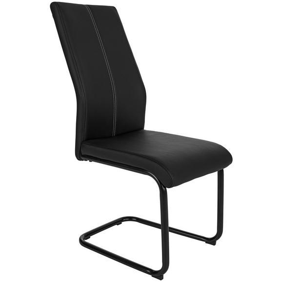 Nihajni Stol Daisy - črna, Moderno, kovina/tekstil (43/98/58cm) - Mömax modern living