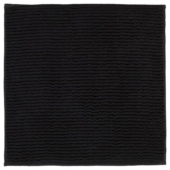 Badematte Nelly Schwarz ca. 50x50cm - Schwarz, Textil (50/50cm) - Mömax modern living