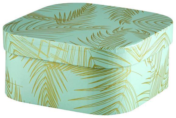 Box mit Deckel Oro Mint/gold - Goldfarben/Mintgrün, Papier (15,5/15,5/7,5cm) - Mömax modern living