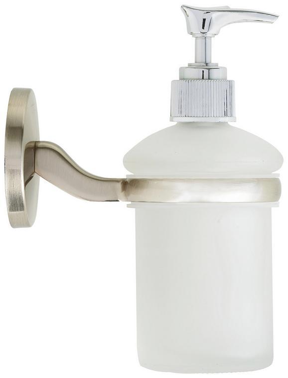 Seifenspender Weiß/edelstahlfarben - Edelstahlfarben, Glas (7/16/12cm) - FACKELMANN
