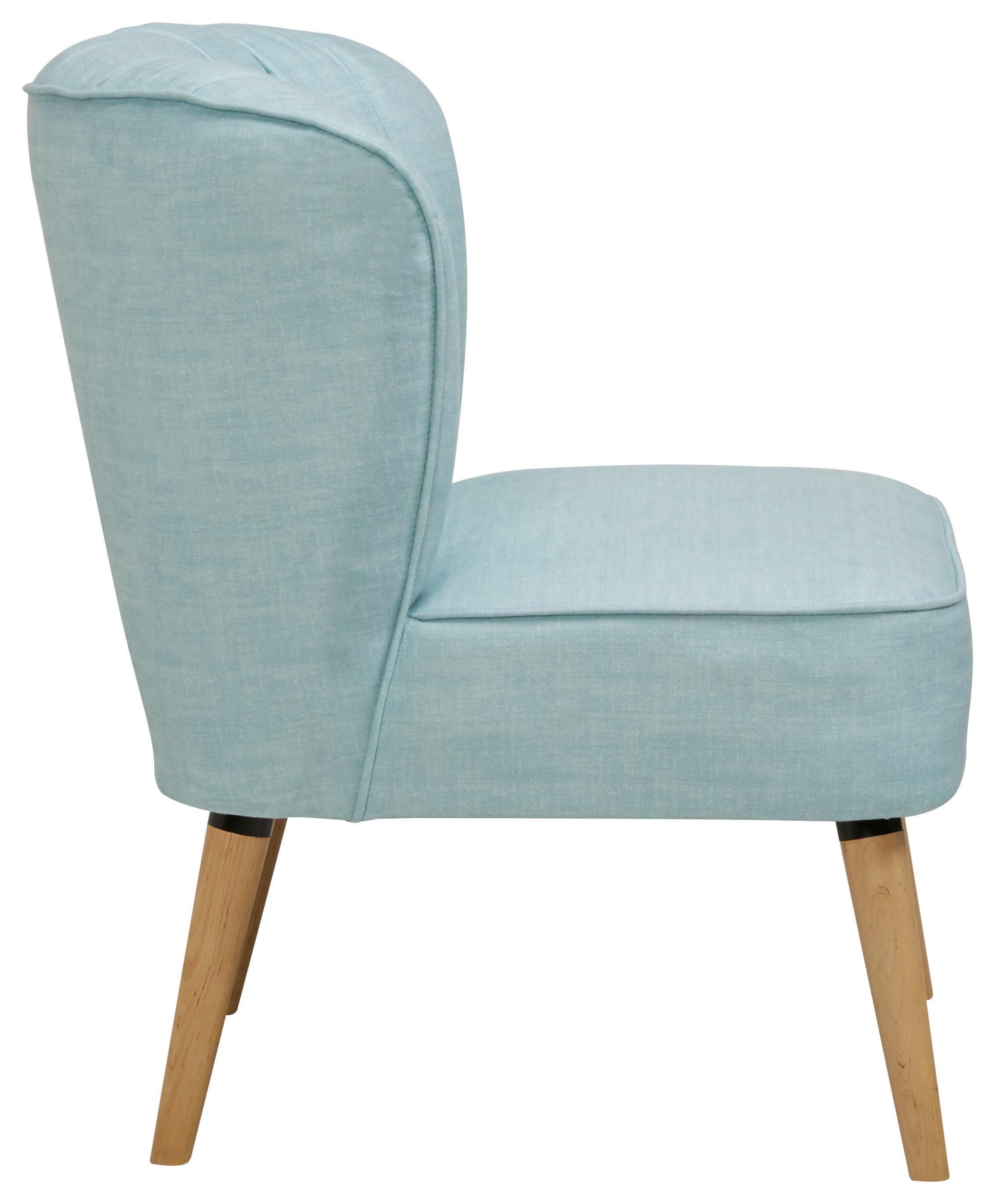 Sessel in Aqua - Blau/Naturfarben, MODERN, Holz/Holzwerkstoff (75/63/83cm) - MÖMAX modern living