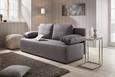 Trosjed Na Razvlačenje U Sivoj Boji - bijela/siva, Konventionell, tekstil/plastika (202/88/84cm) - Mömax modern living