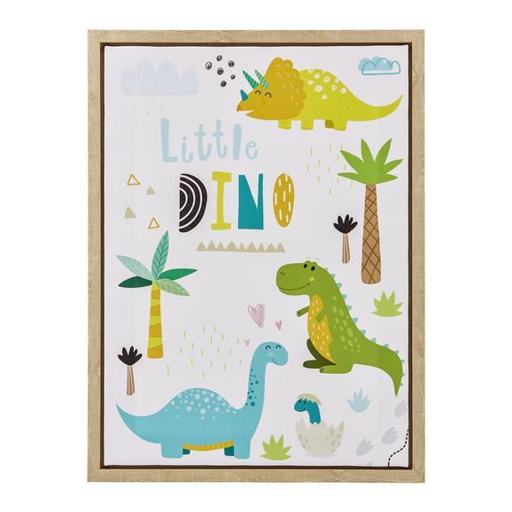 Bild Little Dino ca. 45x60x2,7 cm - Hellbraun/Multicolor, MODERN, Holzwerkstoff/Kunststoff (45/60/2,7cm) - Bessagi Home