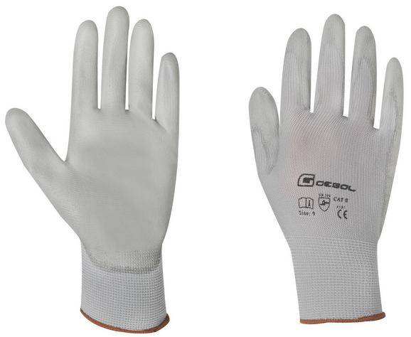 Handschuh Edgar in Grau, Größe 9 - Grau, Textil