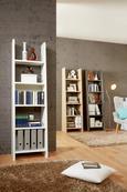 Regal in Weiß lackiert - Weiß, MODERN, Holzwerkstoff (53,6/186,5/38cm) - Mömax modern living