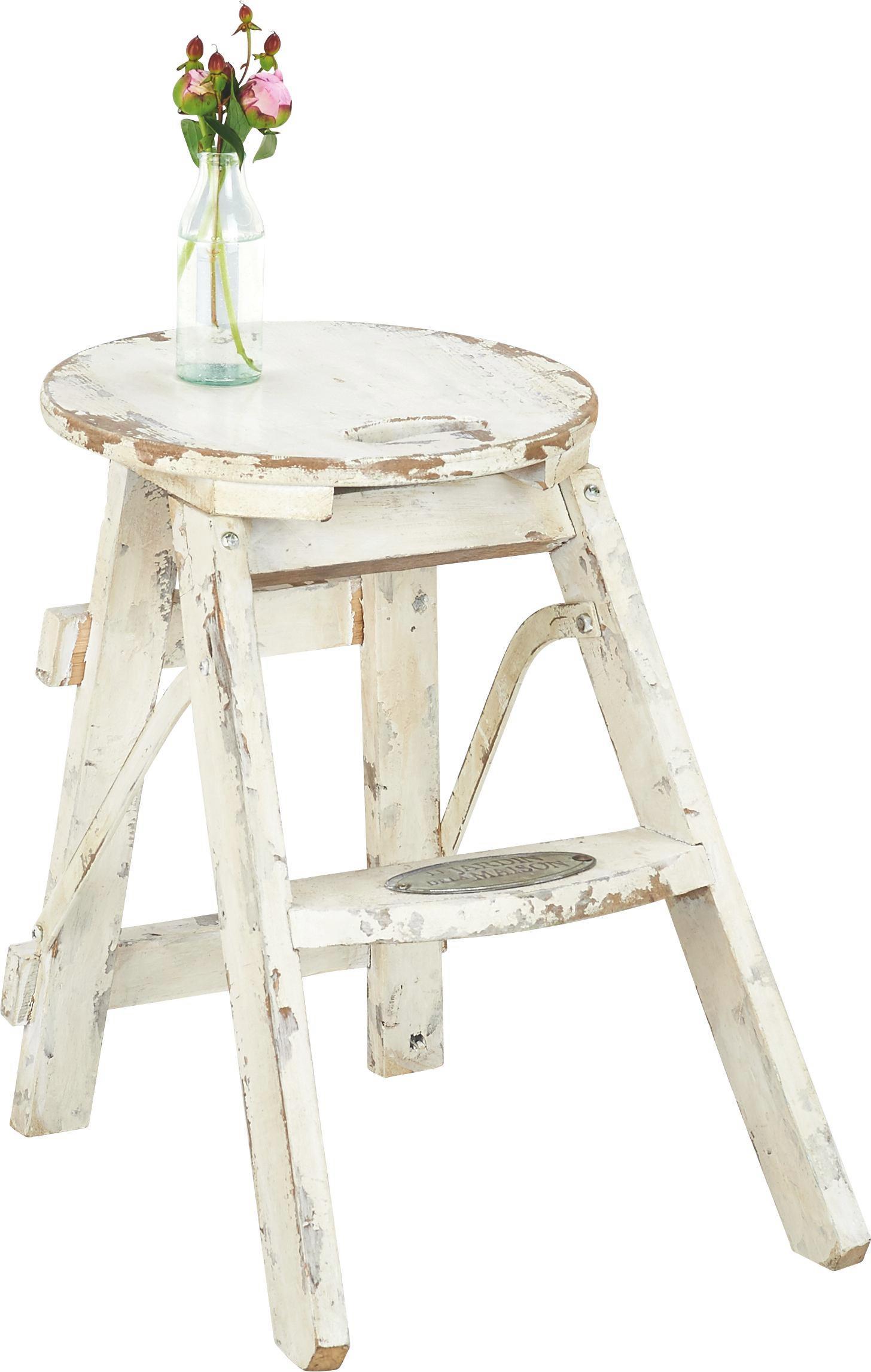 Klapphocker weiß  Klapphocker Step in Weiß aus Tannenholz online kaufen ➤ mömax