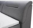 Boxspringbett in Grau ca. 180x200cm - Schwarz/Grau, Kunststoff/Textil (180/200cm) - Premium Living