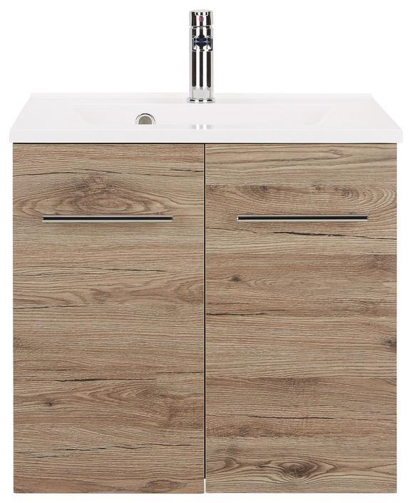 Kombiniran Umivalnik Garziello - hrast/bela, Moderno, kovina/leseni material (60/57/47cm) - Mömax modern living