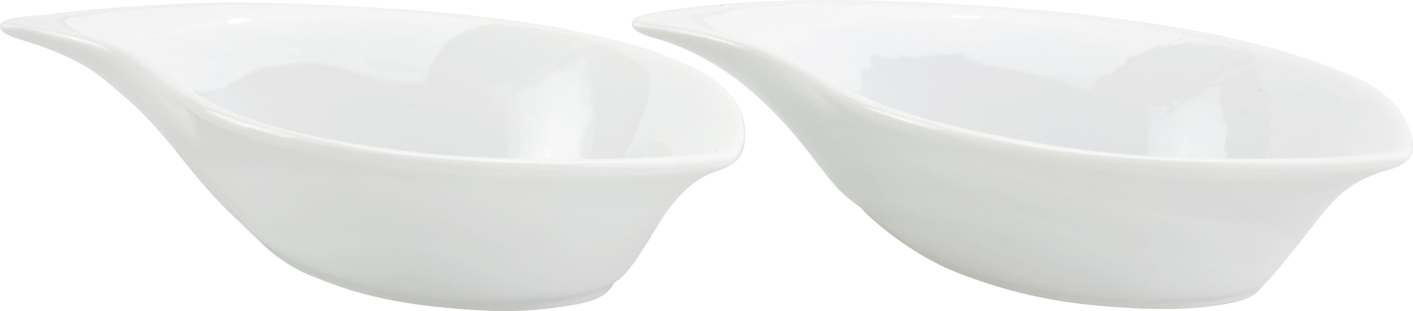 Schalenset Onde 2-er Set - Weiß, MODERN (17,2/9,9/3,7cm) - MÖMAX modern living