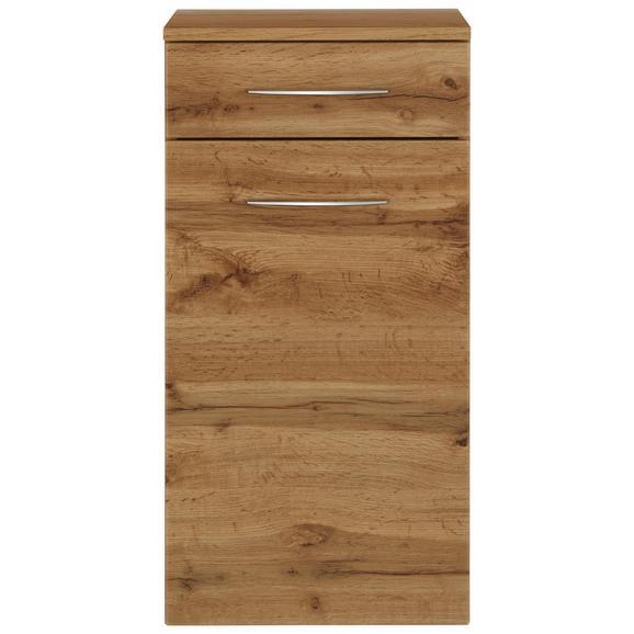 Unterschrank Eichefarben - Chromfarben/Eichefarben, MODERN, Holzwerkstoff/Metall (40/79/35cm)