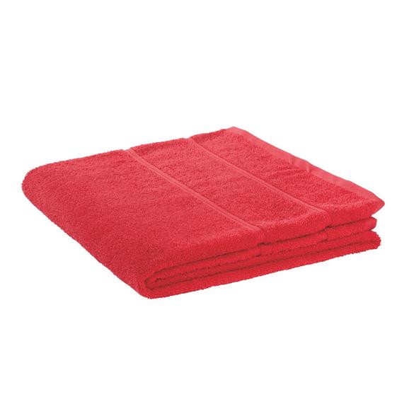 Duschtuch Melanie Rot - Rot, Textil (70/140cm)