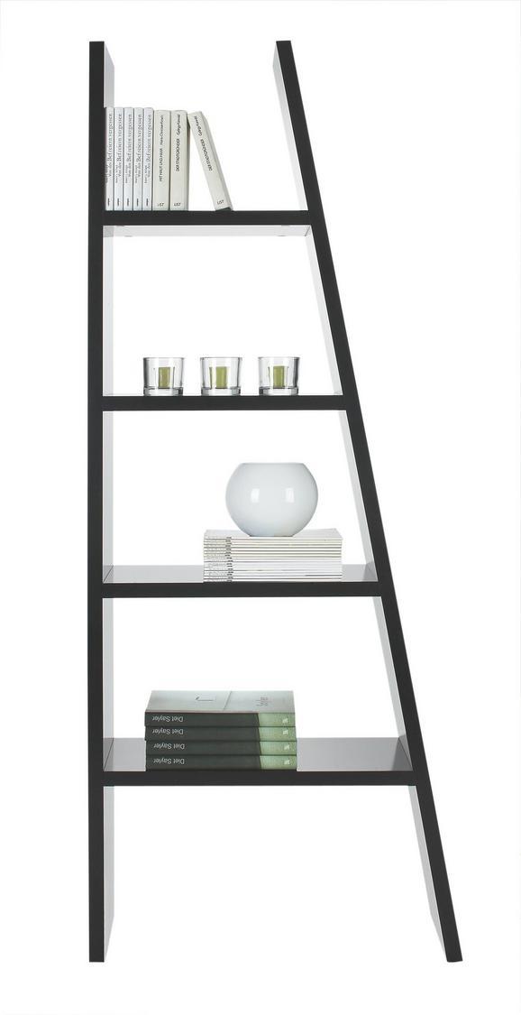 Regal in Schwarz lackiert - Schwarz, Holzwerkstoff (42-76/190/30cm) - MÖMAX modern living